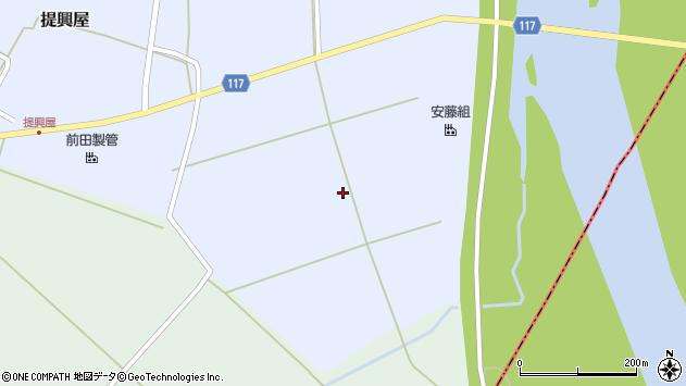 山形県東田川郡庄内町提興屋元田尻周辺の地図