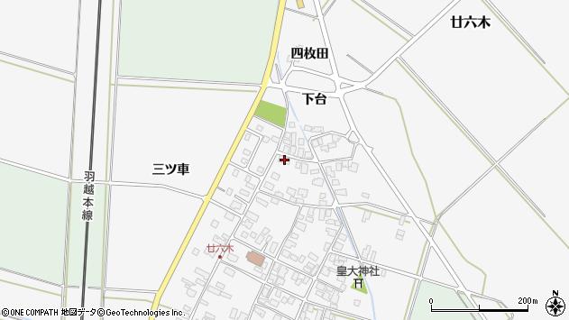 山形県東田川郡庄内町廿六木三ツ車93周辺の地図