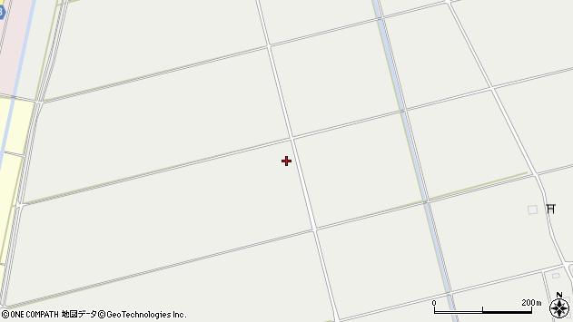 山形県酒田市広野田割周辺の地図