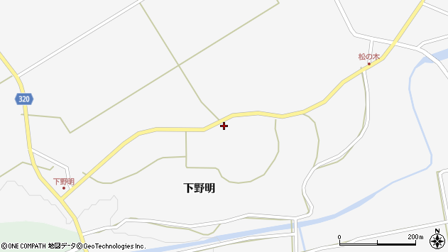 山形県最上郡金山町下野明519周辺の地図