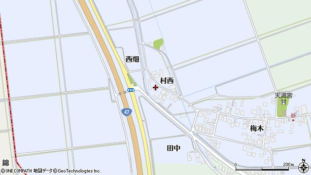 山形県東田川郡庄内町跡西畑1周辺の地図
