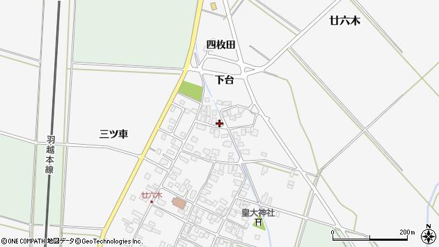山形県東田川郡庄内町廿六木三ツ車118周辺の地図