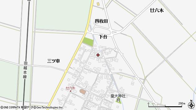 山形県東田川郡庄内町廿六木三ツ車119周辺の地図