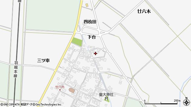 山形県東田川郡庄内町廿六木三ツ車113周辺の地図