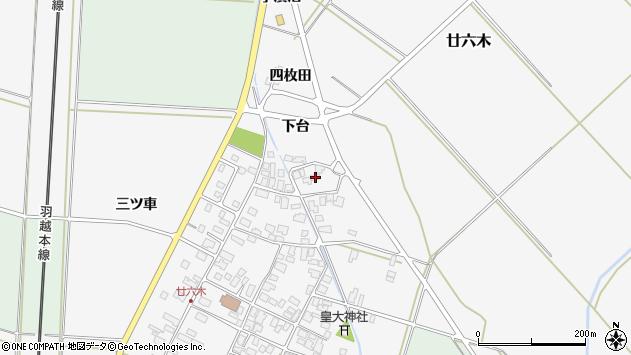 山形県東田川郡庄内町廿六木三ツ車110周辺の地図
