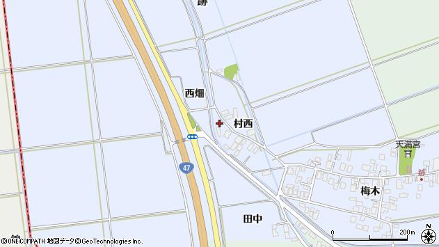 山形県東田川郡庄内町跡西畑3周辺の地図