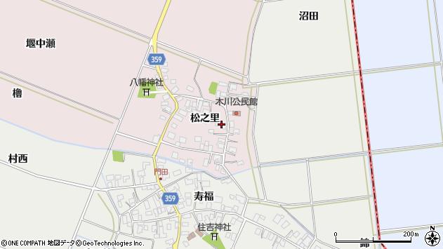 山形県酒田市木川松之里26周辺の地図
