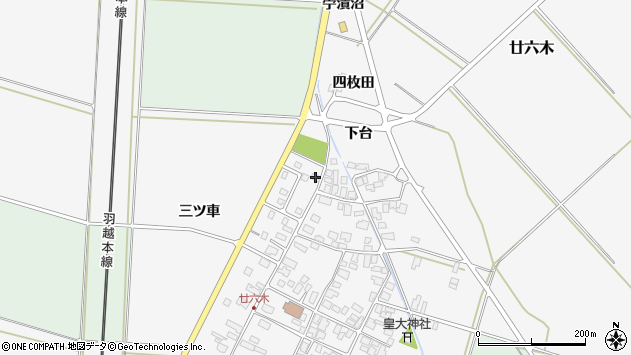 山形県東田川郡庄内町廿六木三ツ車124周辺の地図