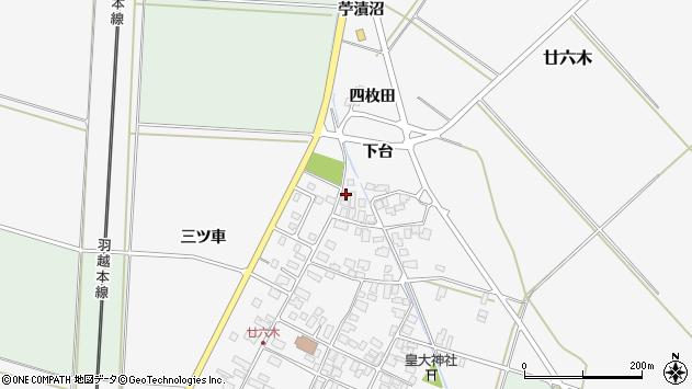 山形県東田川郡庄内町廿六木三ツ車121周辺の地図