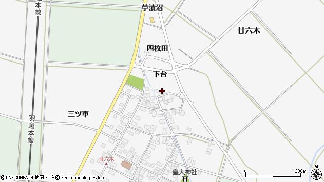 山形県東田川郡庄内町廿六木三ツ車115周辺の地図
