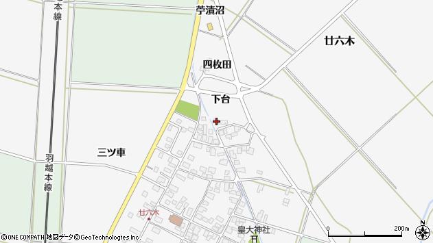 山形県東田川郡庄内町廿六木下台78周辺の地図
