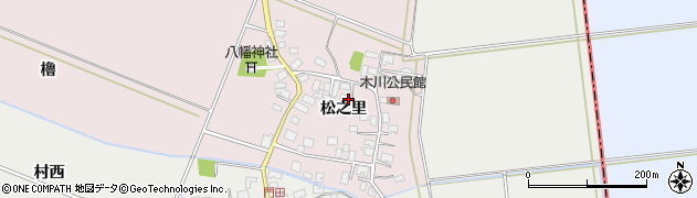 山形県酒田市木川松之里37周辺の地図