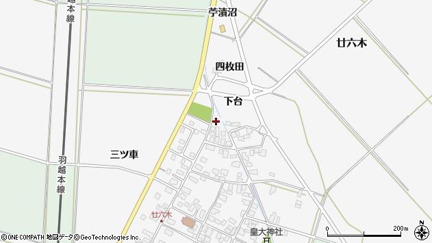 山形県東田川郡庄内町廿六木四枚田1周辺の地図