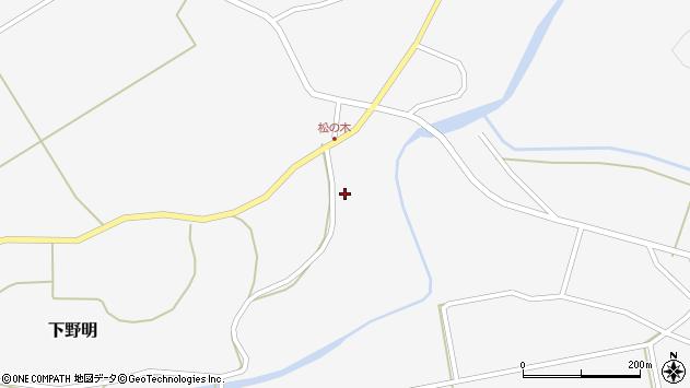 山形県最上郡金山町下野明342周辺の地図