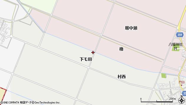 山形県酒田市門田下モ田75周辺の地図