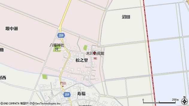 山形県酒田市木川松之里11周辺の地図