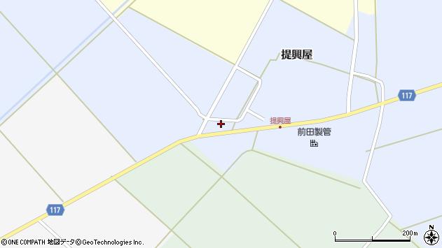 山形県東田川郡庄内町提興屋下田38周辺の地図