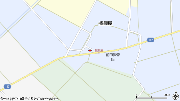 山形県東田川郡庄内町提興屋野岡5周辺の地図