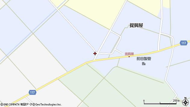 山形県東田川郡庄内町提興屋岩台71周辺の地図