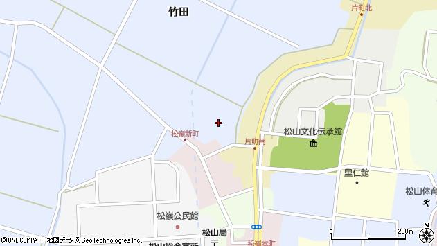 山形県酒田市金谷周辺の地図