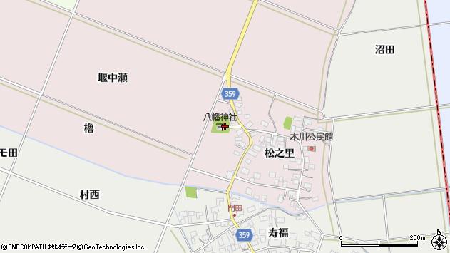 山形県酒田市木川松之里75周辺の地図