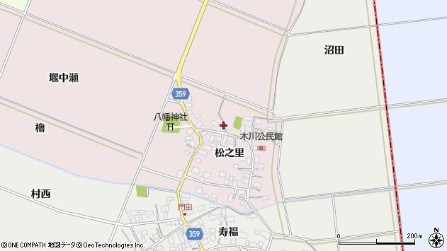 山形県酒田市木川松之里40周辺の地図