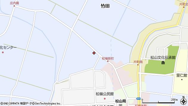 山形県酒田市竹田清水下周辺の地図