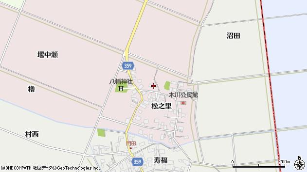 山形県酒田市木川松之里66周辺の地図