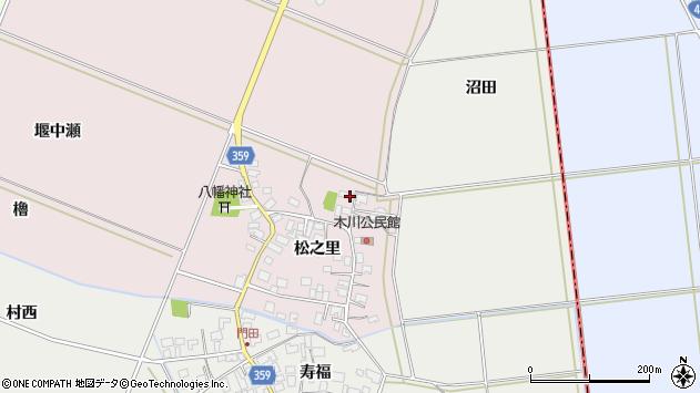 山形県酒田市木川松之里18周辺の地図