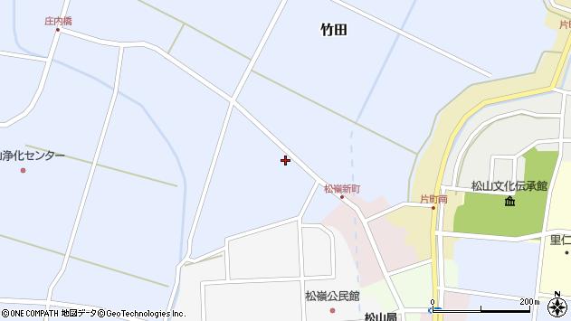 山形県酒田市竹田清水下26周辺の地図