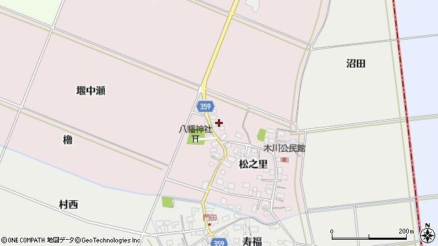 山形県酒田市木川松之里79周辺の地図