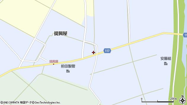 山形県東田川郡庄内町提興屋亀沼周辺の地図