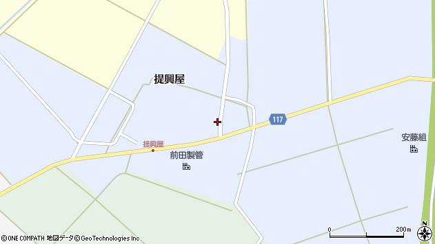 山形県東田川郡庄内町提興屋野岡23周辺の地図