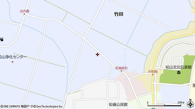 山形県酒田市竹田清水下28周辺の地図