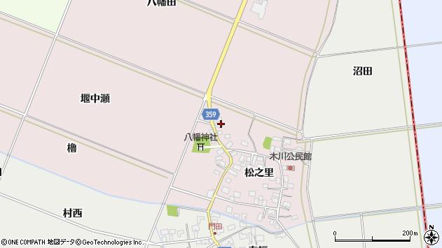 山形県酒田市木川松之里82周辺の地図