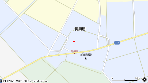 山形県東田川郡庄内町提興屋野岡50周辺の地図