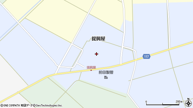 山形県東田川郡庄内町提興屋野岡57周辺の地図