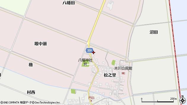 山形県酒田市木川松之里83周辺の地図