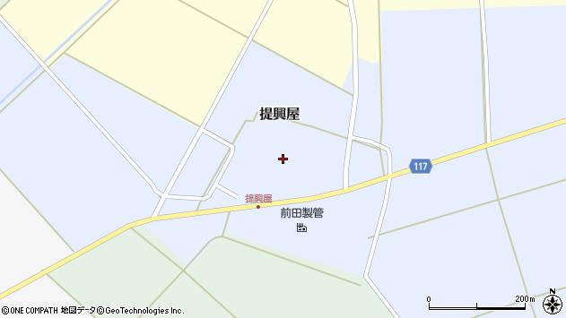 山形県東田川郡庄内町提興屋野岡58周辺の地図