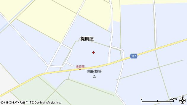 山形県東田川郡庄内町提興屋野岡64周辺の地図