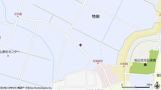 山形県酒田市竹田猿田周辺の地図