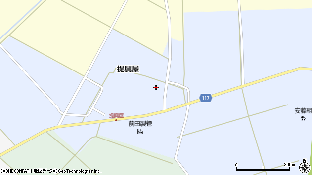 山形県東田川郡庄内町提興屋野岡71周辺の地図