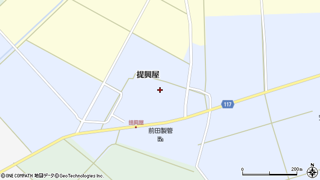 山形県東田川郡庄内町提興屋野岡49周辺の地図