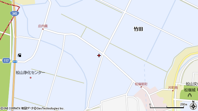 山形県酒田市竹田清水下95周辺の地図