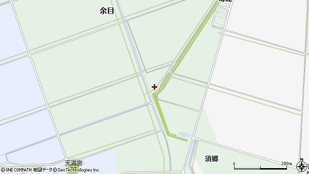 山形県東田川郡庄内町余目毒蛇周辺の地図