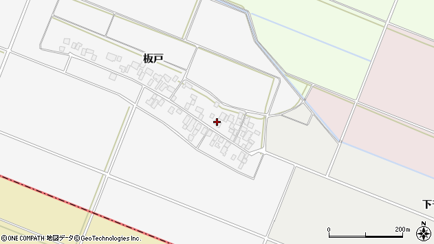 山形県酒田市板戸福岡133周辺の地図
