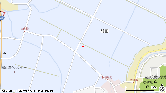 山形県酒田市竹田猿田22周辺の地図