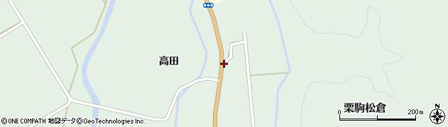宮城県栗原市栗駒松倉高田脇周辺の地図