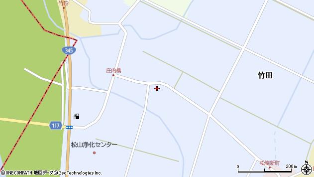山形県酒田市竹田竹ノ下2周辺の地図