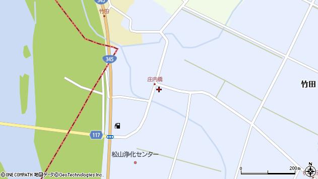 山形県酒田市竹田竹ノ下23周辺の地図